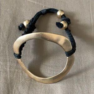 Jewelry - Gold circle bracelet, statement piece